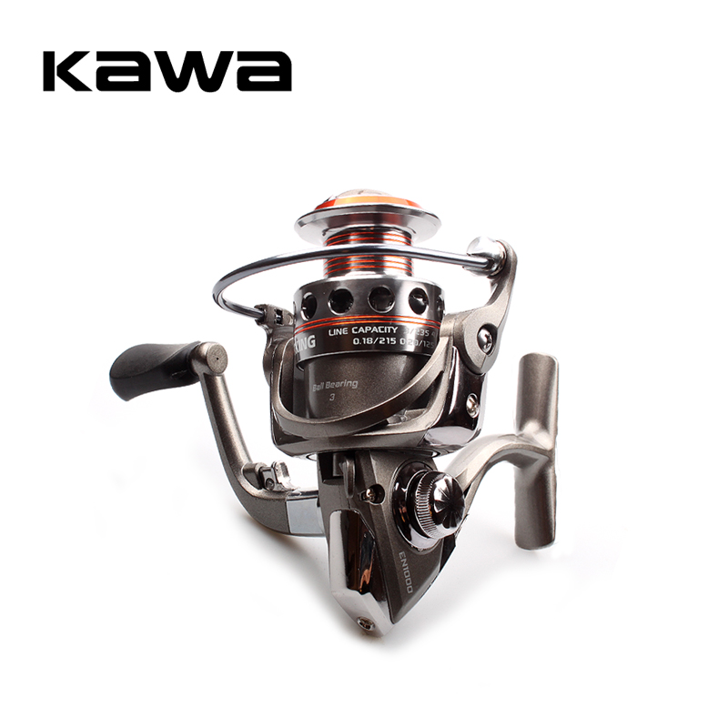 KAWA Fishing Spinning Reel Alloy Spool 4.5KG Max Drag Spinning Reel 3 Bearings Left Hand And Right Hand Can Be Exchanged
