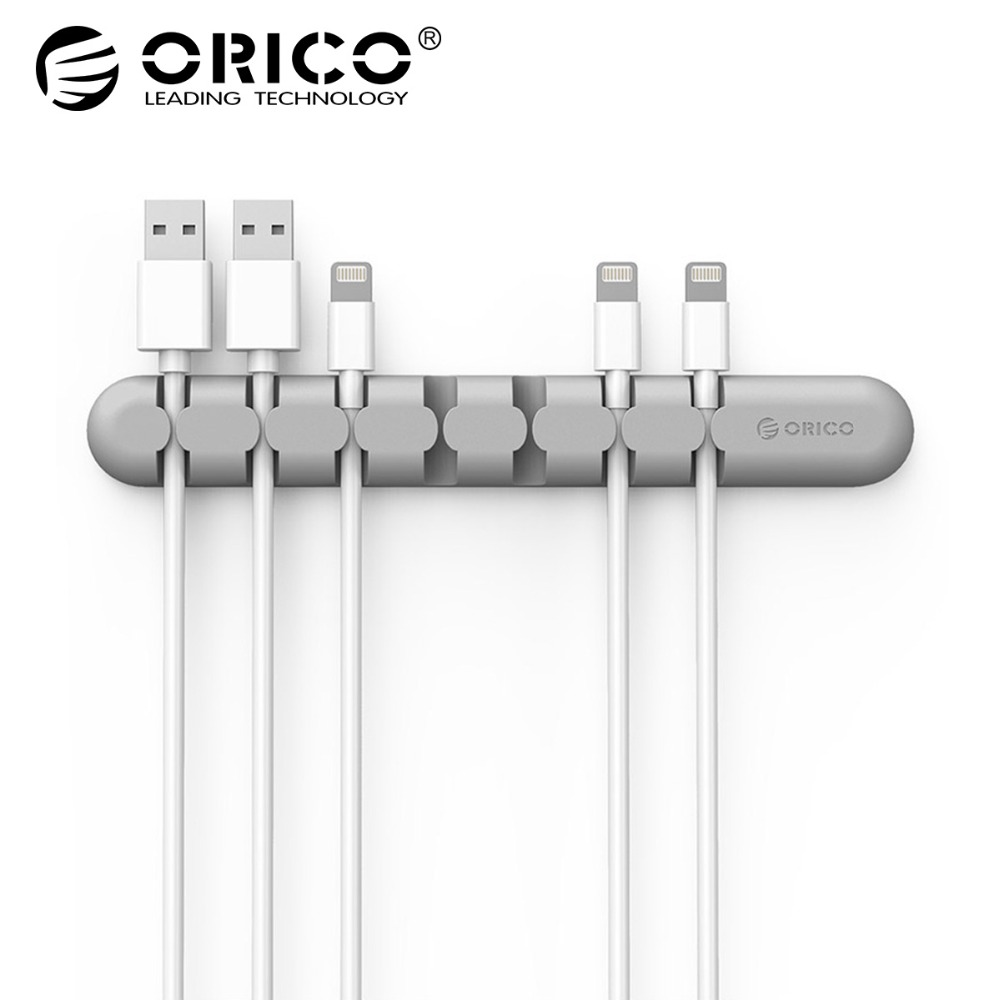 ORICO CBS Cable Winder Earphone Cable Organizer Wire Storage Silicon Charger Cable Holder Clips for MP3 ,MP4 ,Mouse,Earphone stylish and simple bucket bag wild shoulder messenger bag