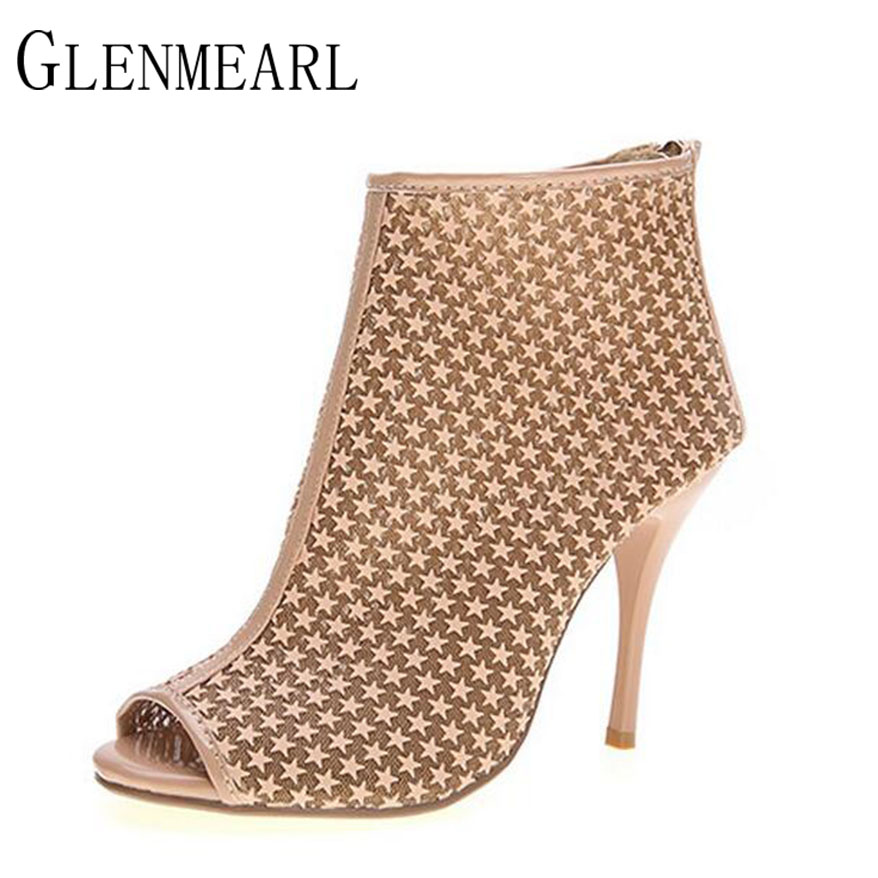 2019 Leather High Heels Women s Pumps Shoes Brand Plus Size Summer Shoes Woman Rome Peep