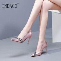 Wedding Shoes Pumps Women Shoes Silver Pink Rhinestone Sexy Spring Shoes 9.5cm Talon Femme
