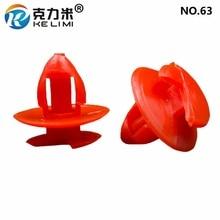 KE LI MI Car accessories For Iveco Universal Red Plastic Clips Snaps Fastener Door Panel Decoration