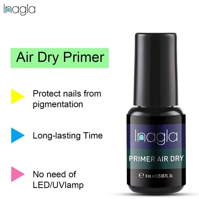 Inagla Ar Seco Verniz Cartilha Cartilha Embeber Off UV Prego LED Gel Polish Salon Manicure 8 ML