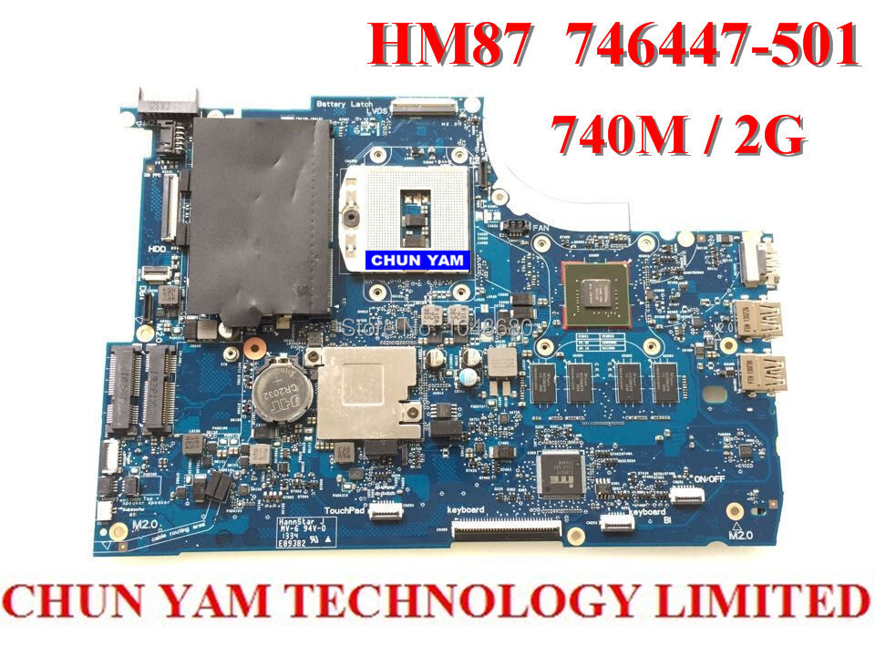 Laptop motherboard 746447-501 for HP TouchSmart 15 Envy15 HM87 740M/2G 746447-001 Notebook system board 90 Days Warranty TESTED
