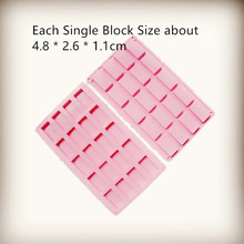 Wholesale silicone ice cube 20 square blocks mold handmade Small Rectangle soap DIY Soap Making Silicone Mold