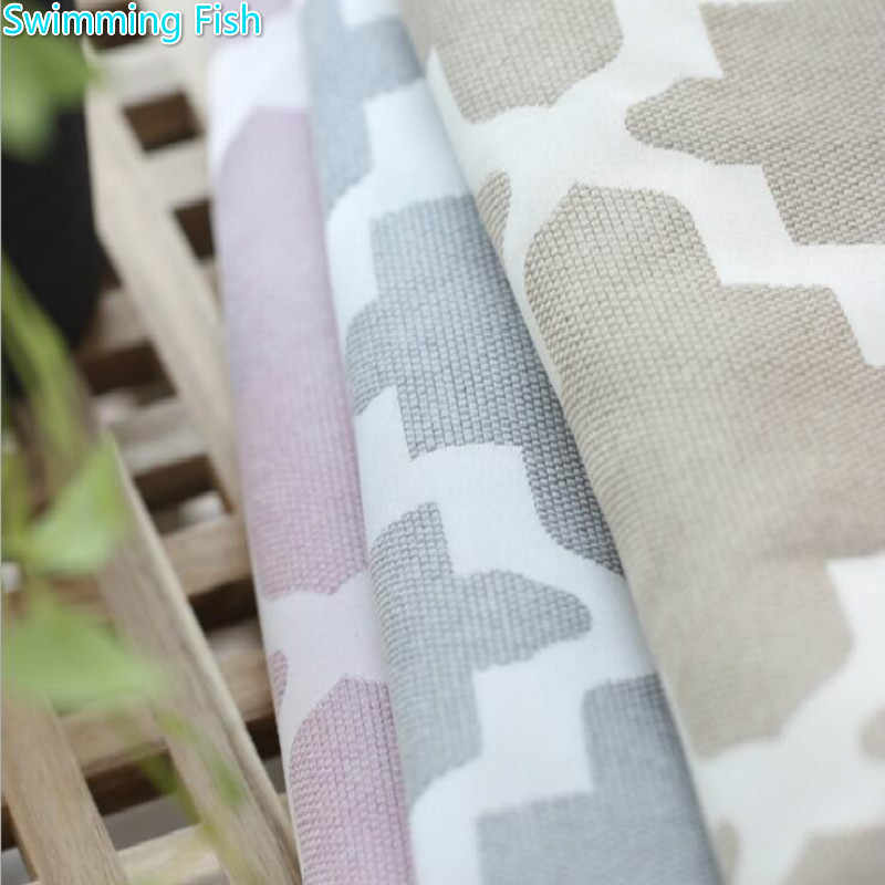 Pink/Grey/Light yellow Thick Faux Cotton Linen Curtain Jacquard Blackout Curtain For Bedroom Custom Window Curtain Blind Drape