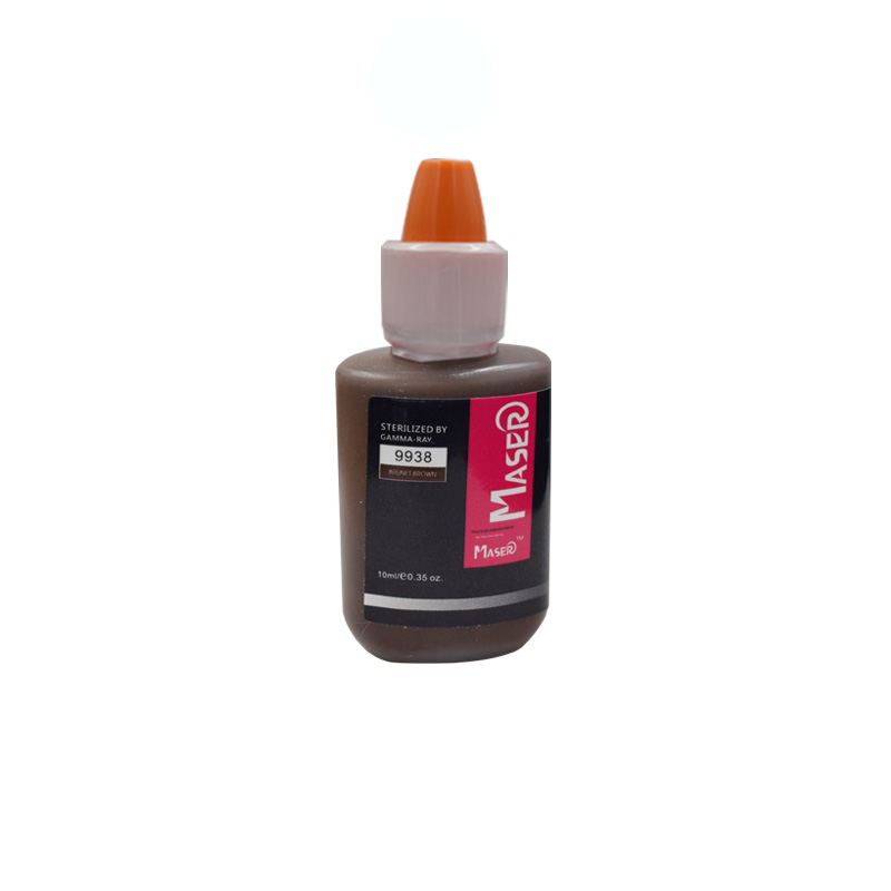 10ML 9938 BRUNET BROWN intensité de l'extrait de plante de Biomaser organique non toxique OEIL tatouage micro pigment maquillage permanent encre PMU
