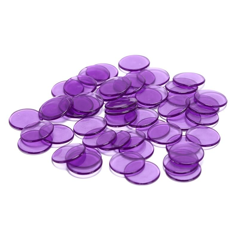 1.5cm Plastic Poker Chips Casino Bingo Markers For Fun Family Club Carnival Bingo Game Supplies Acce 5Colors 50Pcs