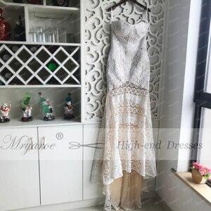 Image 3 - Mryarce 2019 Luxe Exclusieve Kant Mermaid Trouwjurk Strapless Liefde Ban Boho Chic Bruidsjurken