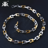 RIR Miami Cuban Chains For Men Hip Hop Rock Jewelry Wholesale Gold Color Thick Stainless Steel