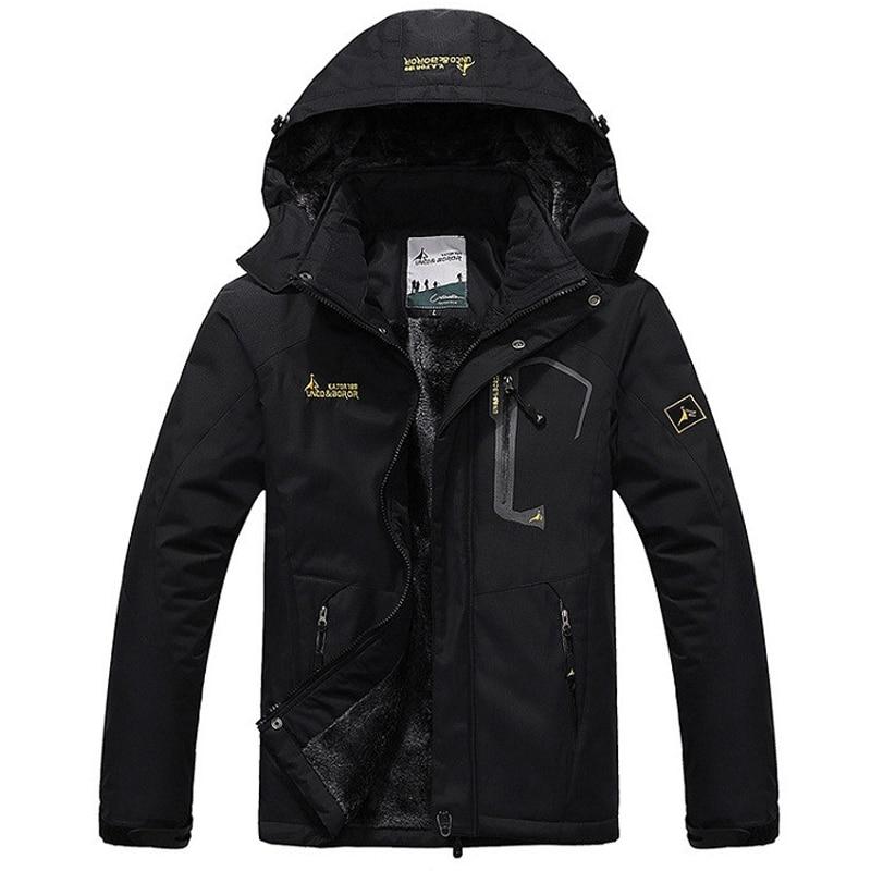 Veste imperméable en polaire intérieure pour hommes Toppick sports de plein air manteau de marque chaude randonnée Camping Trekking ski vestes pour hommes