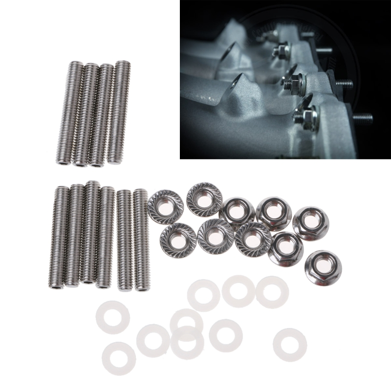 Air Intake System Auto Replacement Parts Competent Car Extended Stud Intake Manifold Bolt Kit Stainless Steel Bolt Kit For Honda B/c/d/f/h/k Series Automobiles Air Intake Parts Attractive And Durable