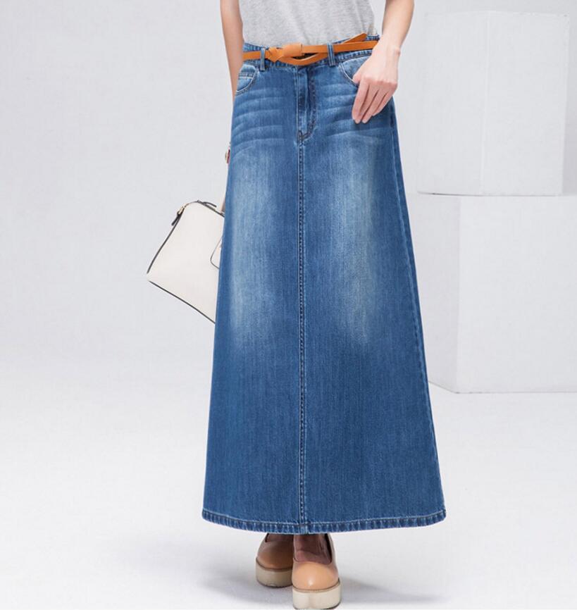 Onwijs 2018 Spring summer female jeans skirt casual high waist women RU-23