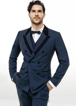 Fatos De Noivo Custom Made Blue Men Silm Fits Suits Wedding Suits Tuxedos Terno Para Casamento Formal Evening Suits