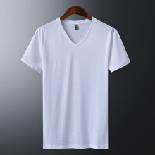 4fe8085de7e Plain t shirts For men Blank black White tshirt Silk Cotton Fashion Brand t  shirt men