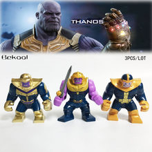 Brand New 3PCS/LOT Super Thanos Big Superheroes Avengers Infinity War sets compatible Building blocks Toys(China)