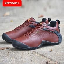 MEPPDWELL Männer Wasserdicht Atmungsaktiv Bergsteigen stiefel Wanderschuhe split Leder wanderschuhe Männer Klettern Stiefel 224-5