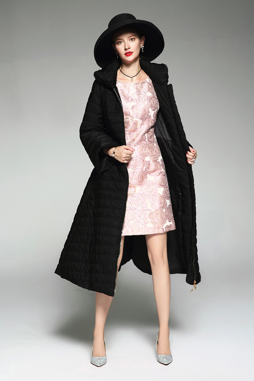 De Épais Manteau 2018 Hiver Mince Longues Plus C3061 Col Automne Femmes Solides Stand Chaud Taille La Couleur Veste Petite Manches Coton UwFqFnap
