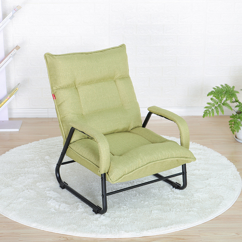 Creative Japanese Casual Lazy Sofa Single Balcony Living Room Bedroom Fabric Function Chair Recliner Chairs