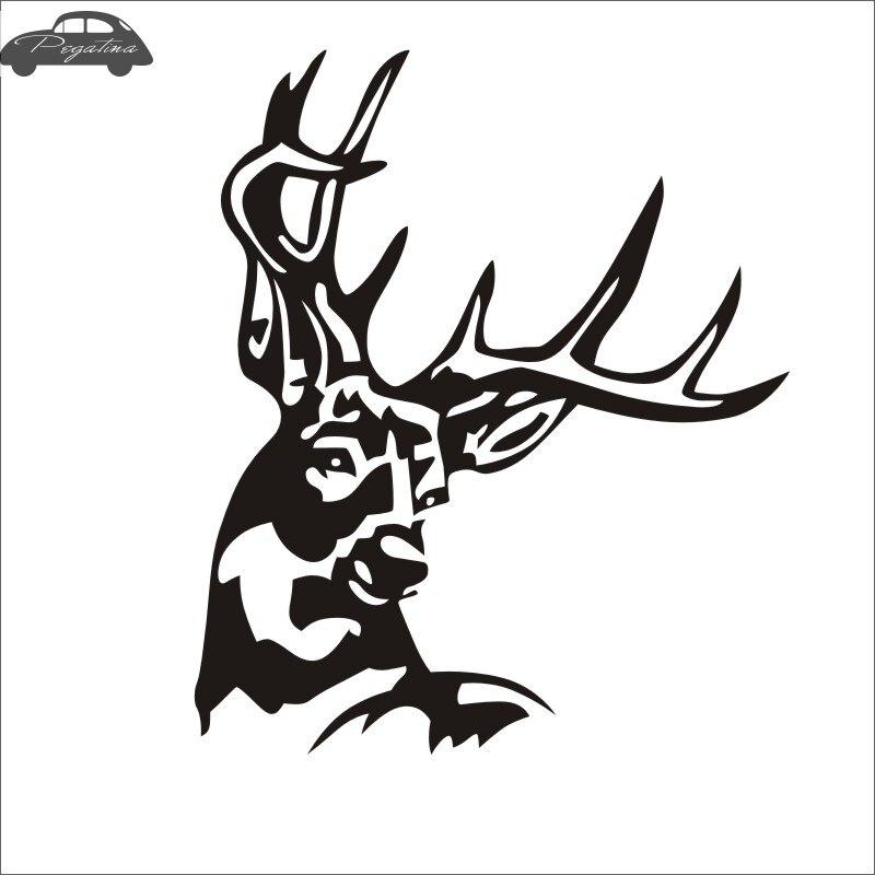 Pegatina Hunt Buck Sticker Deer Hunter Club Decal Gun Shop Hollow Hunting Car Window Vinyl Decal Funny Poster