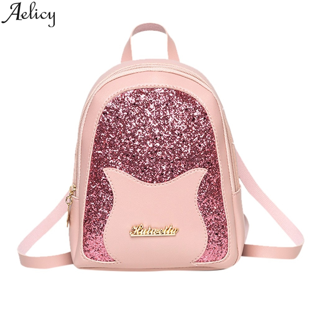 631d2a78a8 Aelicy Lady's Fashion Cute Patchwork Pu Leather Backpack Casual Unique  Designed Bag Traveling Shoulder Small Backpack Mochila