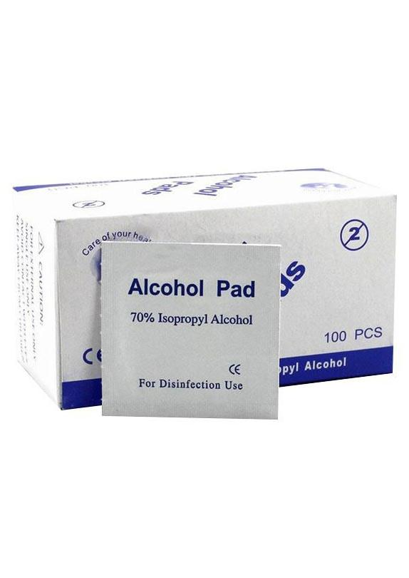 100pcs/Box Disposable Alcohol Wet Clean Wipe Antiseptic Skin Cleaning Care Sterilization 70% Isopropyl Cleaning Care Swap Pad