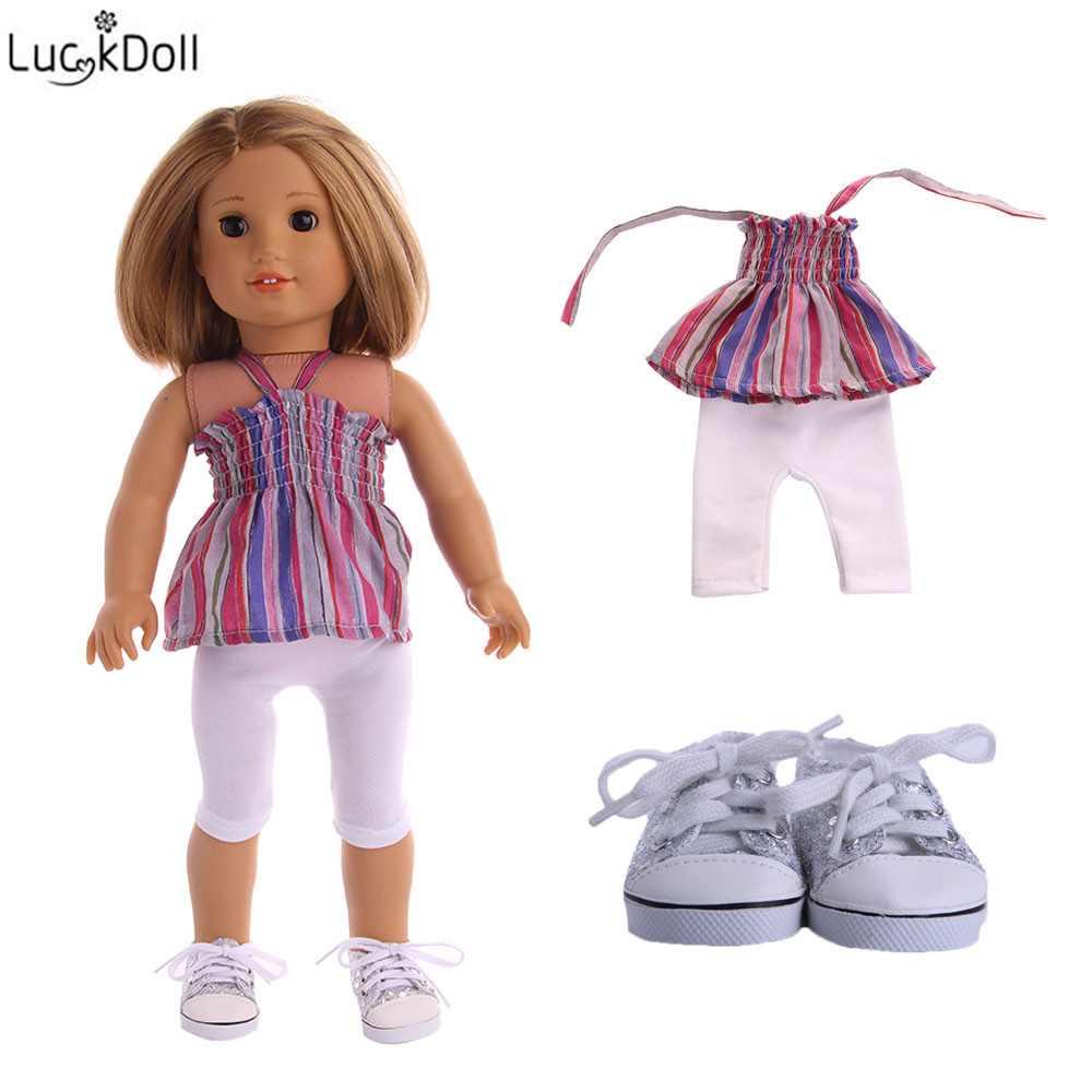1Pair Handmade Doll Socks Clothes for 18 inch American Dolls Kids New Gifts~