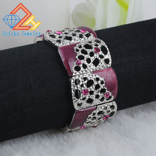 Лидер продаж, турецкие браслеты с подвесками, браслеты с цветами, белые K Drop, масляные, фиолетовые, полые, ювелирные изделия, Ретро стиль, бижутерия для девушек, для свадебной вечеринки
