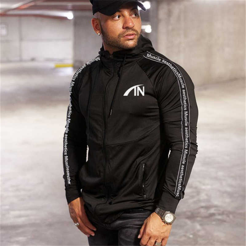 2019 jesień marka sporting garnitur mężczyźni garnitur mężczyźni bluzy z kapturem zestawy męskie siłownie odzież sportowa Jogger garnitur mężczyzna dres zestawy