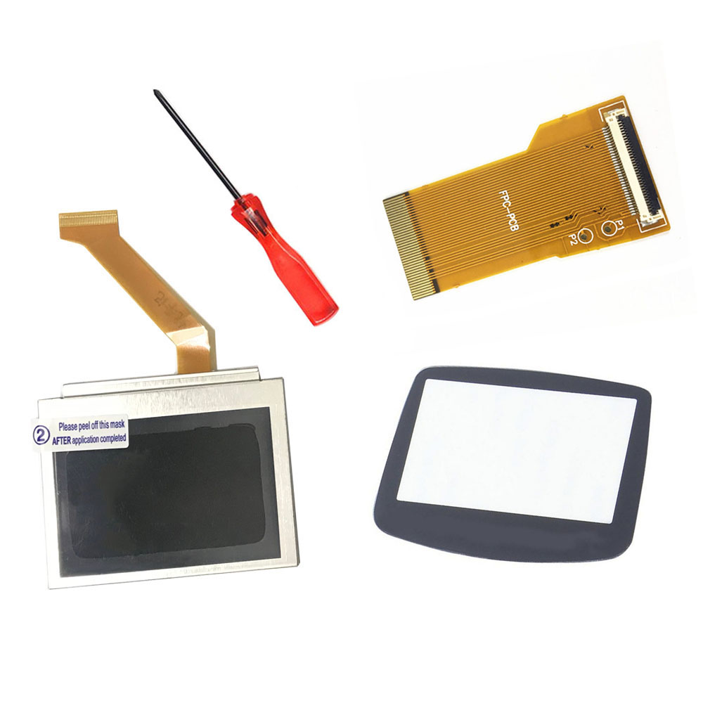 Gamepad LCD Backlight Kit 32/40 Pin for GBA <font><b>SP</b></font> <font><b>AGS</b></font>-<font><b>101</b></font> High Light Backlight Screen Replacement MOD lcd for Nintendo GBA Screen image
