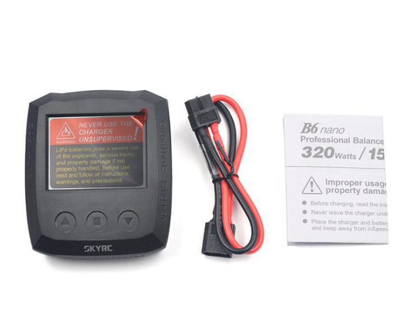 SKYRC B6 Nano 320W LiFe Lilon LiHV NiMH NiCd PB Lipo Charger Discharger Battery Balance Charger Phone Control For Model RC Drone skyrc b6 nano lipo battery charger discharger 15a 320w dc 9 32v mini charge for life lilon lipo lihv nimh nicd pb battery