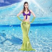 VASHEJIANG Women Mermaid Costume Adult Romantic Beauty Sea Maid Princess Role Playing Halloween Mermaid Tail Costume for Women