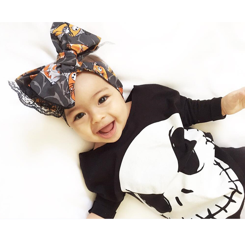 17 Cute Baby Boy Girls Halloween Romper Cotton Jumpsuit Playsuit Fall Winter Clothes Outfit 0-18M 3