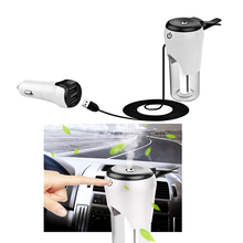 Car Steam Humidifier Air Purifier Aroma Diffuser 12V Dual USB Car Charger Purify Aroma Diffuser  Nebulizer Humidifier