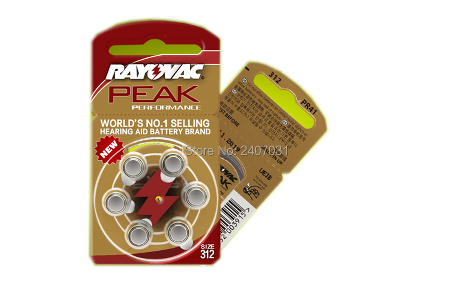 Image 5 - 60 PCS Rayovac PEAK High Performance Hearing Aid Batteries. Zinc Air 312/A312/PR41 Battery for BTE/RIC Hearing aids.Top quality-in Ear Care from Beauty & Health