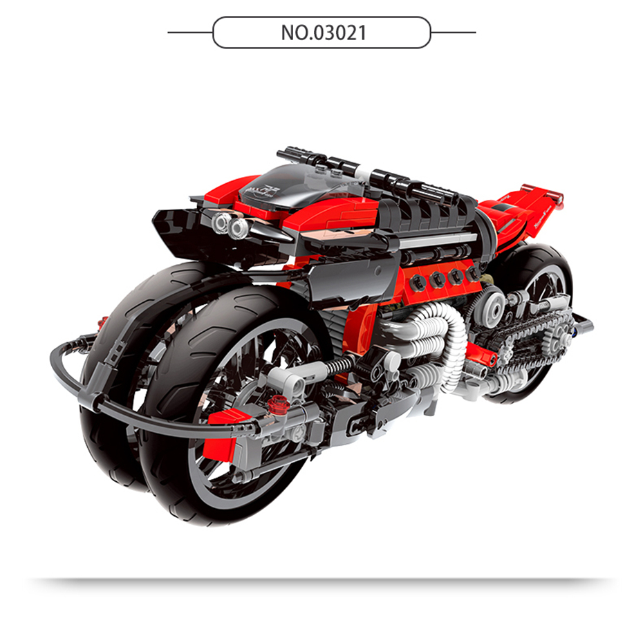 XINGBAO XB-03021 Off-road Motorcycle Building Block 15