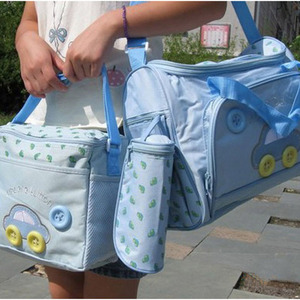 Image 5 - Baby Maternity Bolsa MaternidadeDiaper Bags 3Pcs/Set Diaper Package Changing Nappy With Capacity Bag Nappy Changing Tote T0038