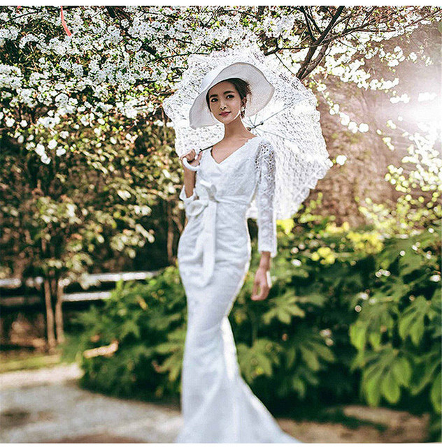 Lace White Umbrella For Wedding Bridal Ladies Online Shop