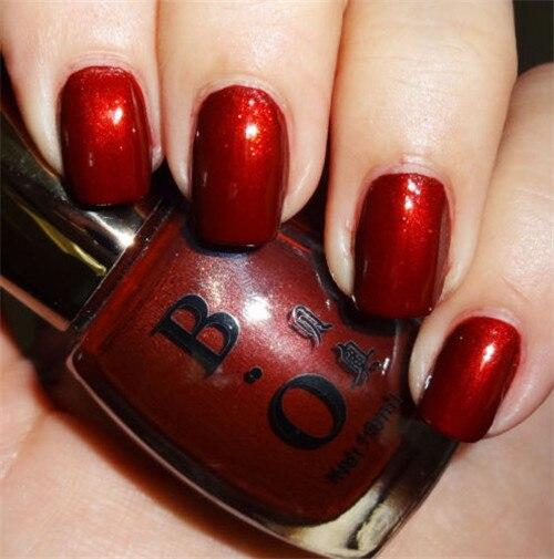 16ml Classical Shiny Bright Red Color Nail Polish Varnish Color Nail