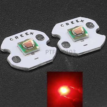 10pcs X 1-3W CREE XP-E XPE Photo Red 660nm LED Deep Red LED Emitter Didoes on 20mm/16mm/14mm/12mm/8mm PCB