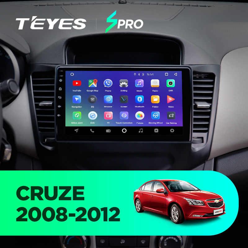 TEYES SPRO для Chevrolet Cruze 2009 2011 2012 2013 2014 Автомобильный Радио Мультимедиа Видео плеер навигация gps Android 8,1 No 2din