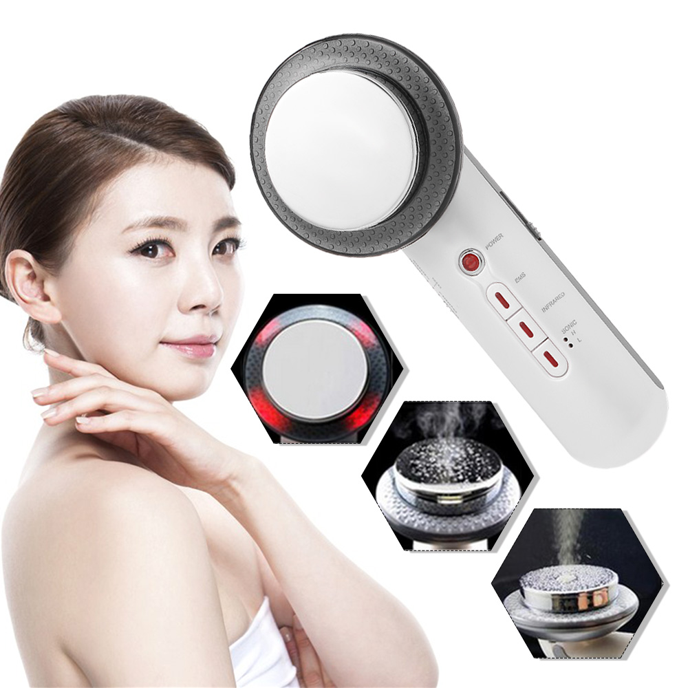 Body Slimming Beauty Care 3 in 1 Body Slimming Massager EMS Muscle Stimulator Far Infrared Ultrasonic Beauty Machine Anti-aging(China)