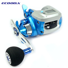 Le-fish Ecooda OFB1000 dual power digital display 5+1BB Electronic Counting Reel 5.1:1Gear casting Trolling