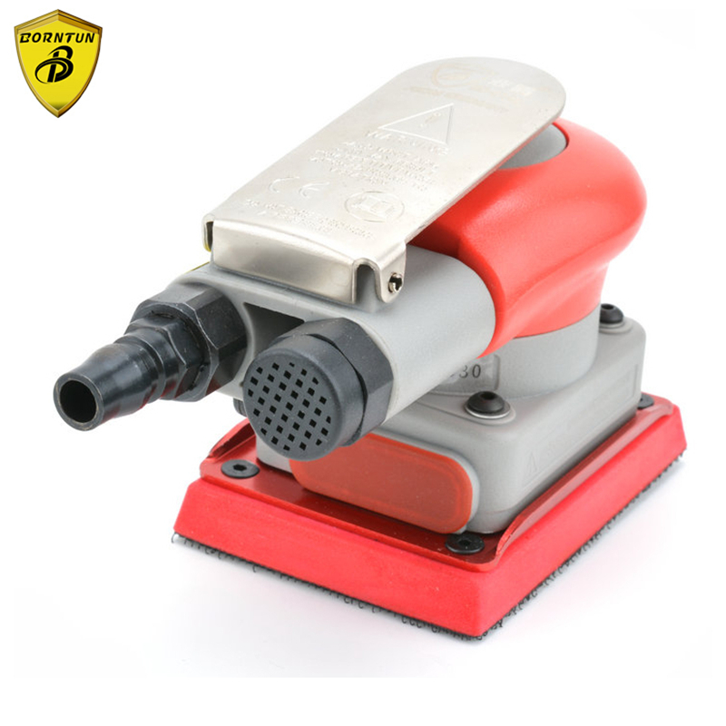 Borntun Rectangle Pneumatic Air Sander 70mm*100mm Oblong Air Sanders Polishing Wood Metal Pneumatic Air Sanding Buffing Polisher