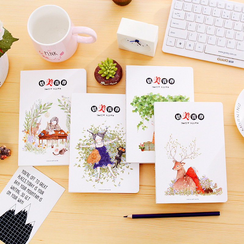 5058 Senmu / Sweet Youth Nude Basis Fresh Originality Notepad Notebook Hand Account Book You