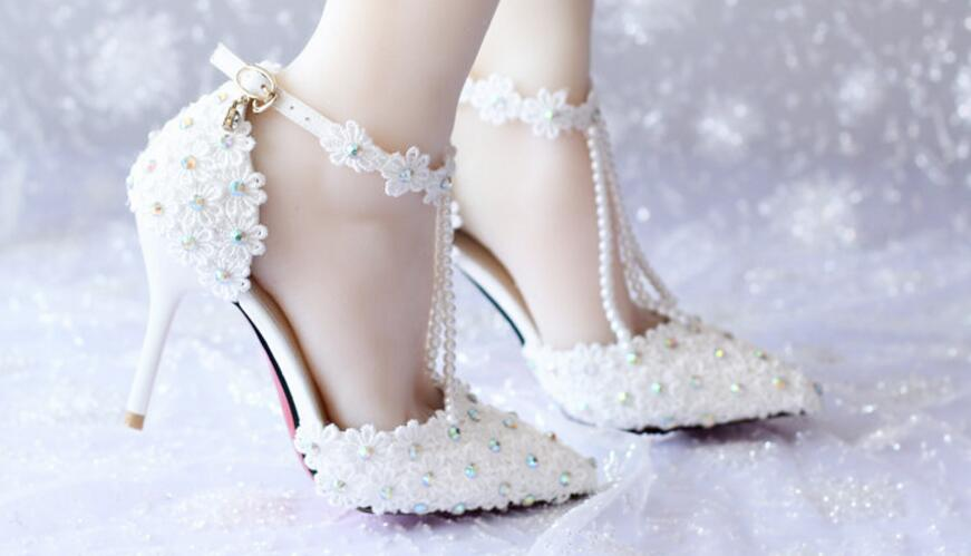Pearl colored dress shoes