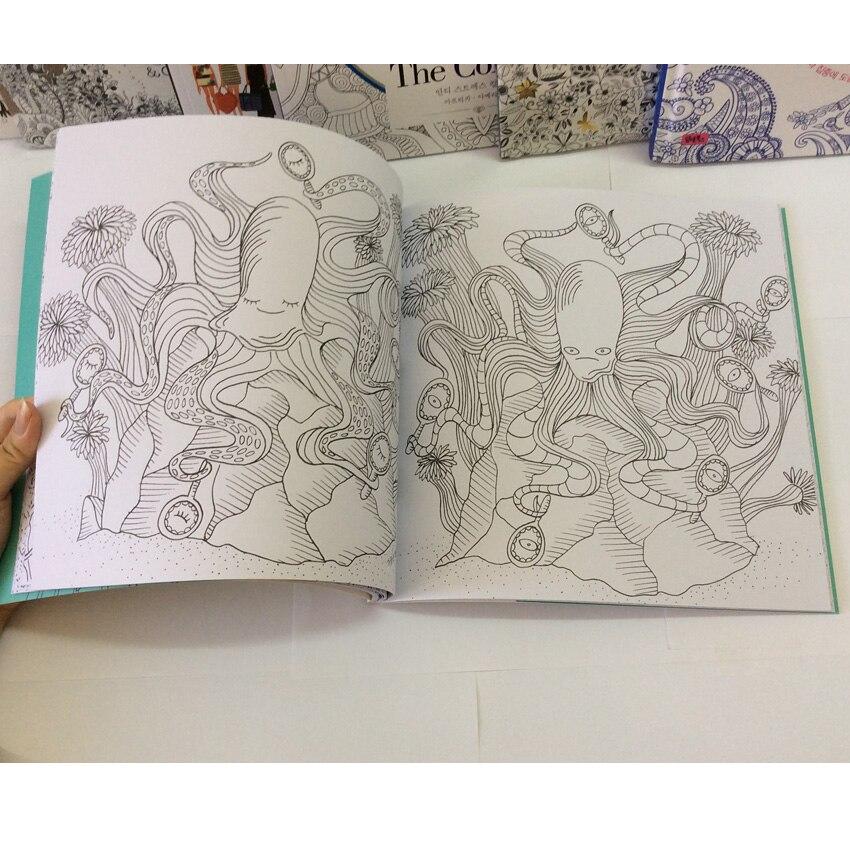 Océano secretos libros para colorear para adultos niños aliviar el ...