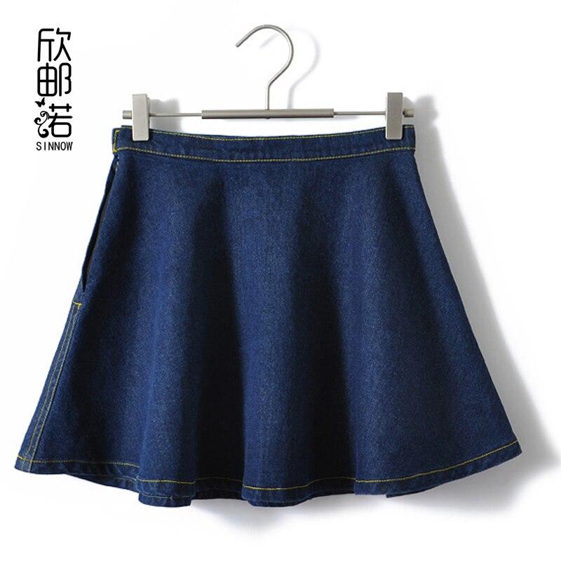 ženy nové jaro léto bavlněné slunce krátká sukně přístřešky sukně sukně džínová sukně ženy Jeans umýt vodou deštník sukně