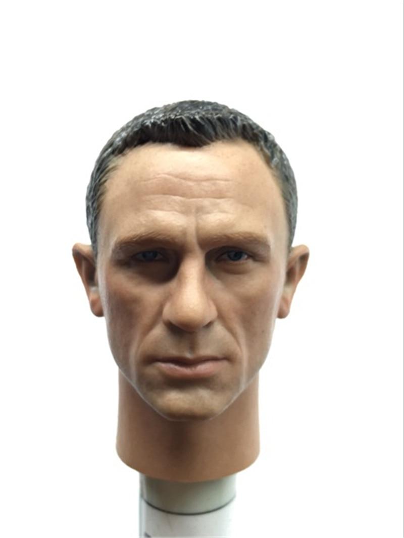 Mnotht Head Sculpt Custom Daniel Craig 1/6 Head Sculpt form Blackbox Toys 007 James Bond Hot Toys & Hobbies L30 mnotht toys 1 6 emilia clarke head sculpt carving model for 12 figure peaktoys pt002 presale toys l30