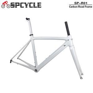 Image 2 - Spcycle T1000 كامل الكربون الطريق إطار دراجة هوائية 700C الطريق دراجة الكربون الإطار BSA 68 مللي متر OEM سباق دراجة إطارات 50/53/55 سنتيمتر