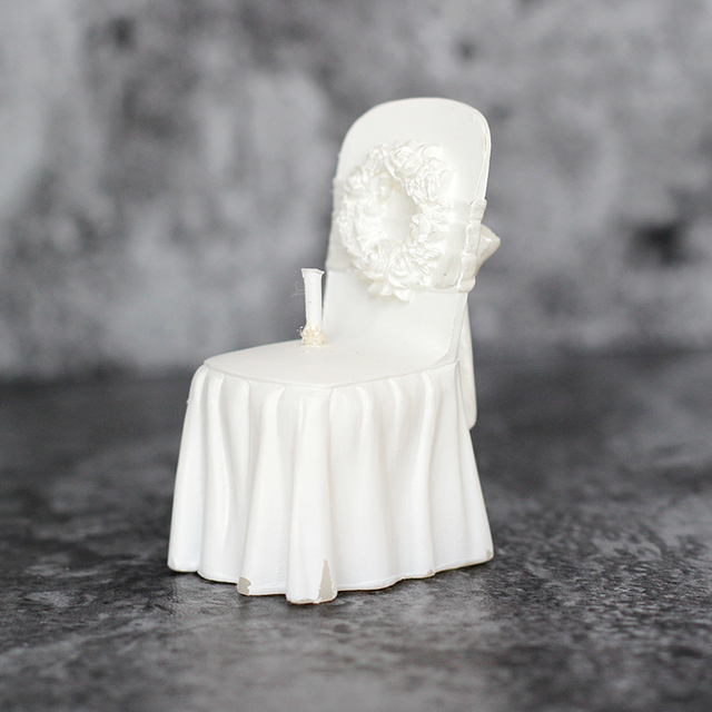 3D Wedding Seat Shape DYI Handmade Soap/Candle Making Silicone Mold